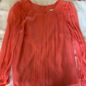 JCrew coral blouse size 2